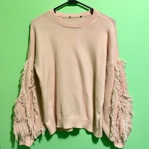 Sweaters - Salmon Pink Unique Sweater